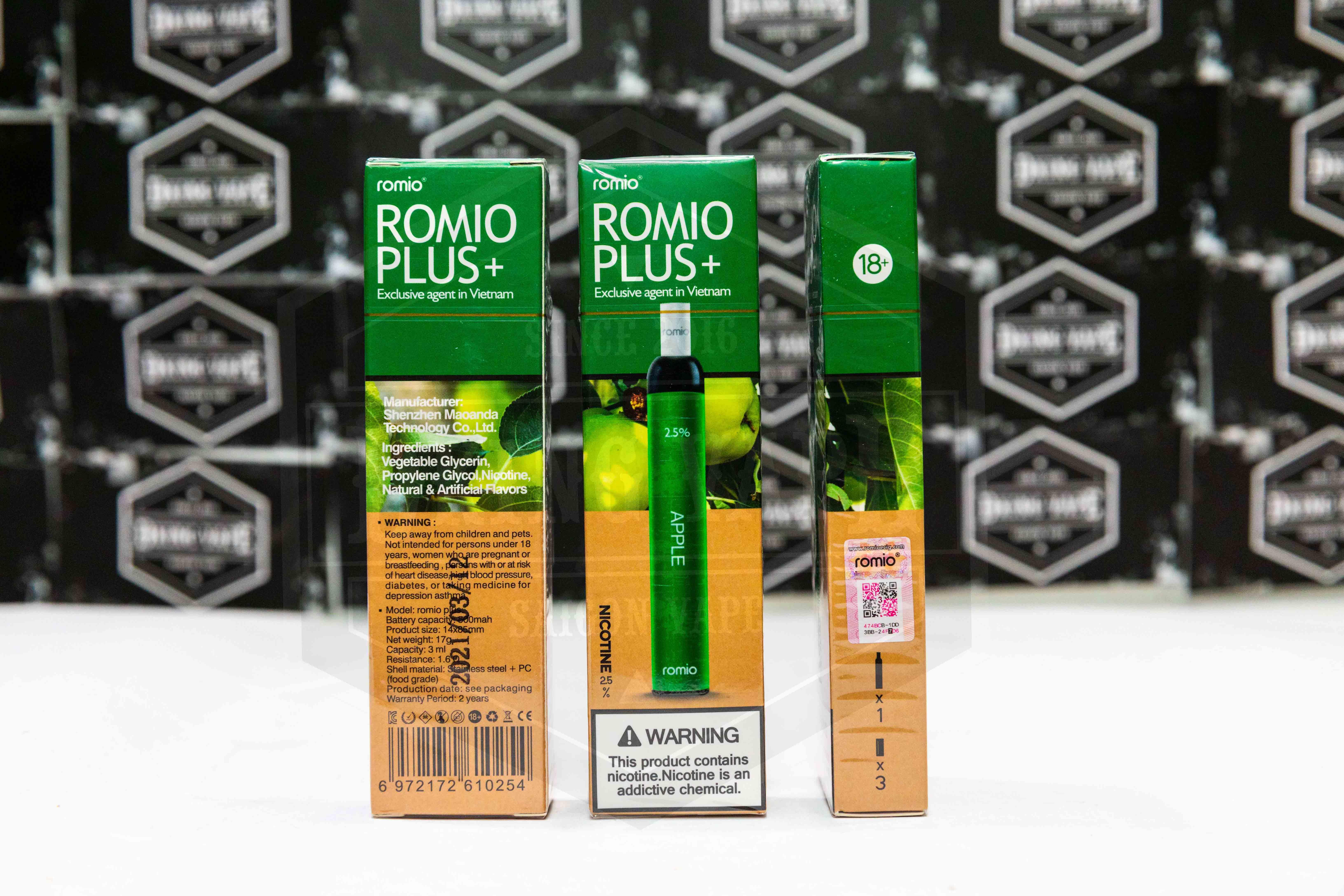 Romio Plus 600 hơi