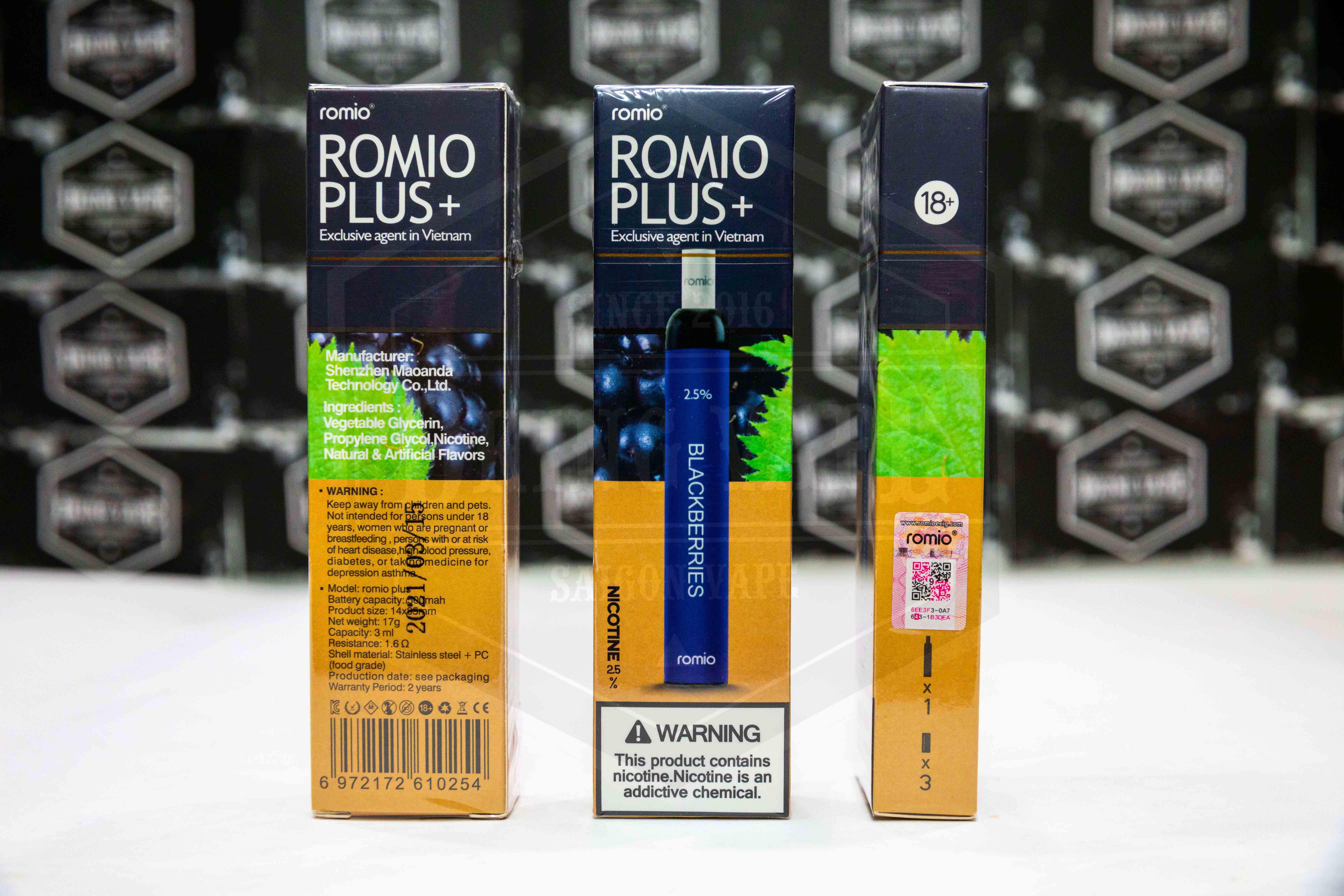 Romio Plus 600 hơi Romio Plus 600 hơi